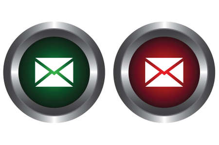 Two buttons with the letter Vector