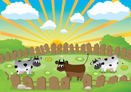 bull pen: Small pasture