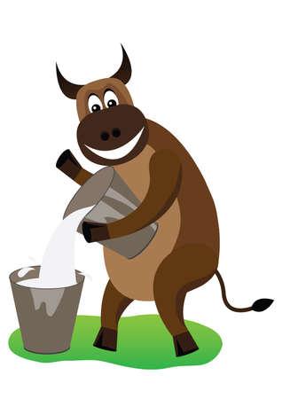 affable: Cheerful bull