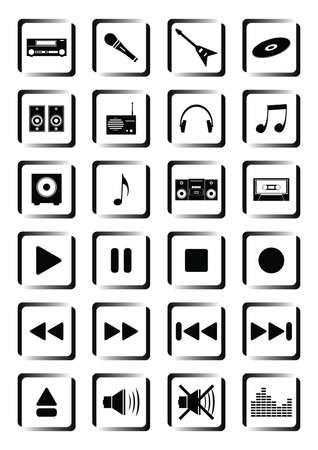 loud   speakers: Musical buttons Illustration