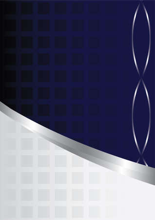 Der blaue Hintergrund mit Elementen für die Präsentation Vektorgrafik