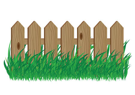fencing: Wooden fence