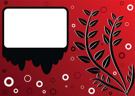 The red background with frame Stock Vector - 7504226