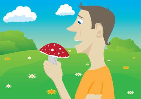 inedible: Mushroomer Illustration