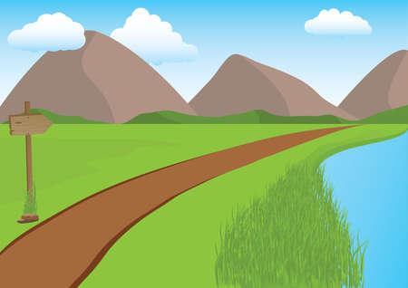 Montagne, paysage  Vecteurs