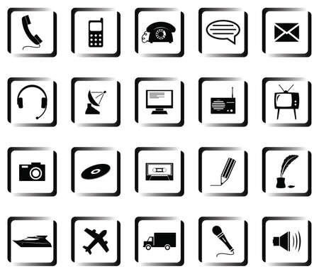 A set of buttons with symbols Stock Vector - 8978130