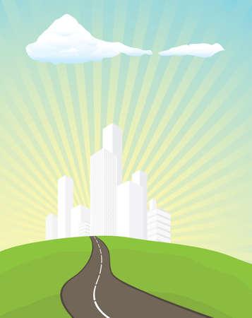 urbanisierung: Der Weg in die Stadt Illustration