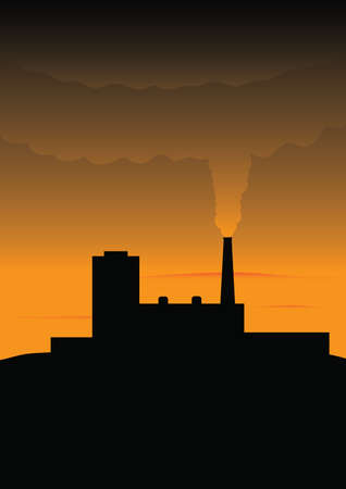 contamination: Environmental contamination Illustration
