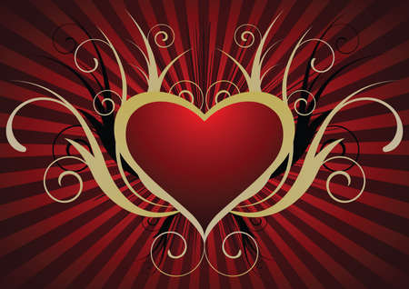 amorous: Background with a beautiful heart