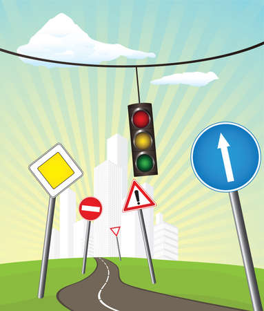 go sign: The road into town