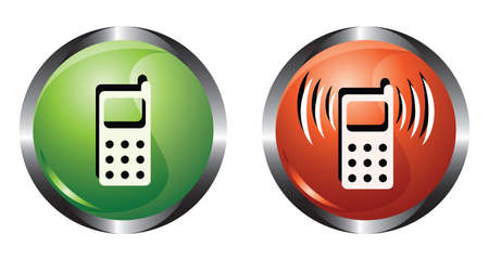 Two buttons with phone Vector