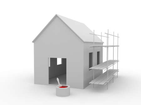 Building a house Stock Photo - 9838780