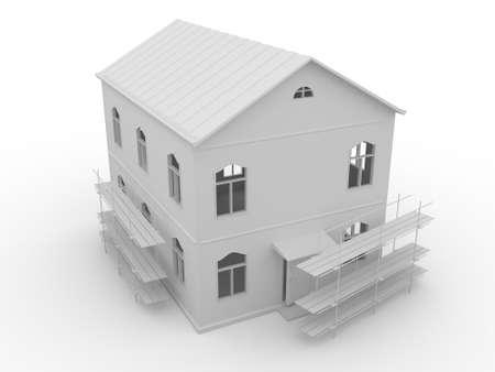 sales floor: Big house Stock Photo