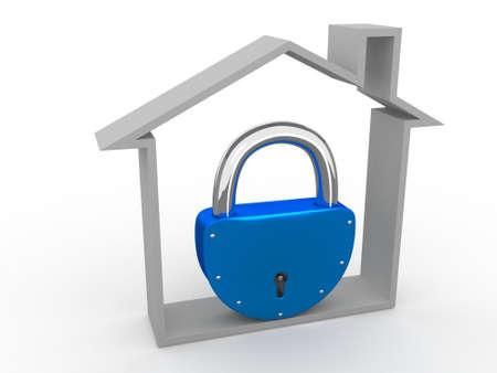 locked: The house is locked