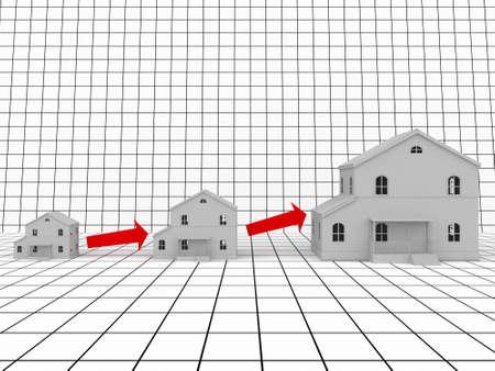 sales floor: Real estate  Stock Photo