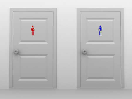 Male and female toilets Stock Photo - 10732920