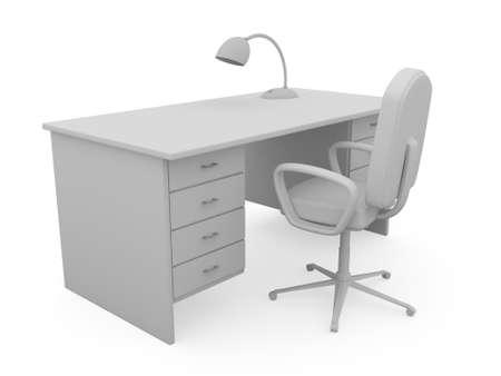 3d model: Workplace
