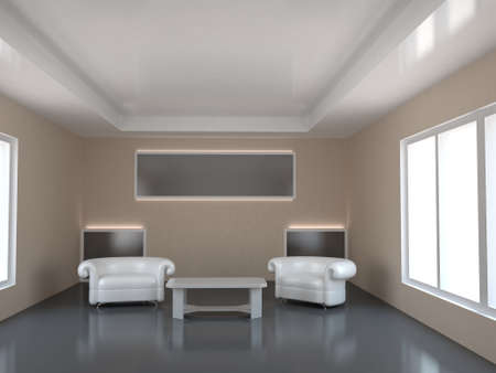 premise: Room with two windows