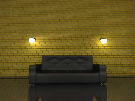 Sofa in the big room photo
