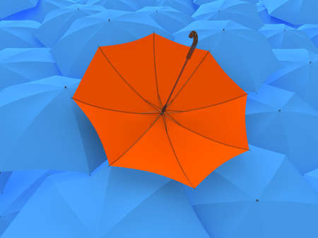 overturn: The turned umbrella Stock Photo