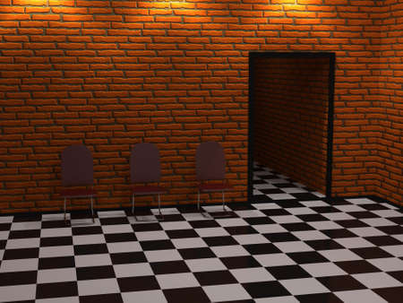 premise: The big hall with chairs