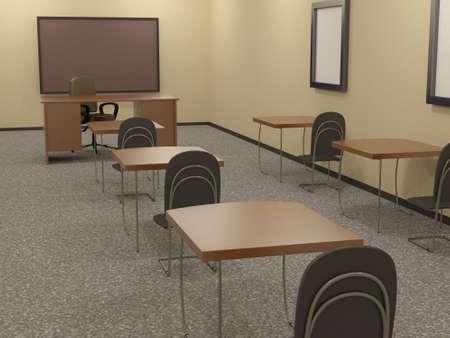 training room: Educational room Stock Photo