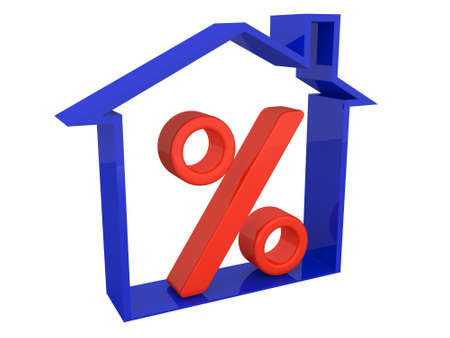 Percent on real estate photo