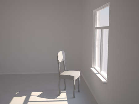 premise: Chair near a window Stock Photo