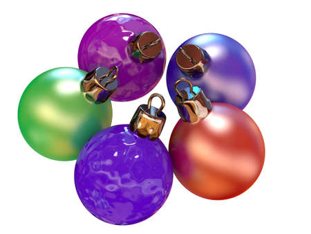 Five color balls for a New Year tree Stock Photo - 11538383