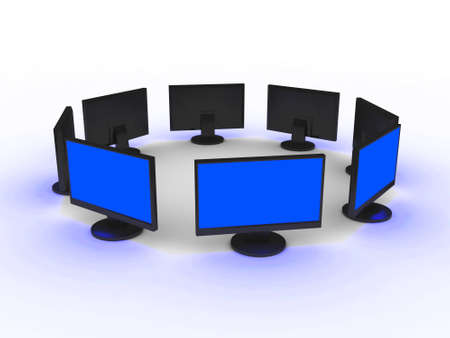 prompt: Monitors Stock Photo