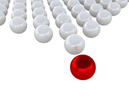 threshold: The red ball in the lead