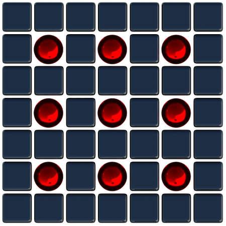 promotes: Bolas rojas y cubos negros