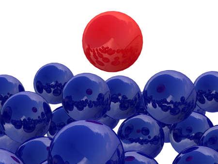 promotes: La bola roja encima del resto