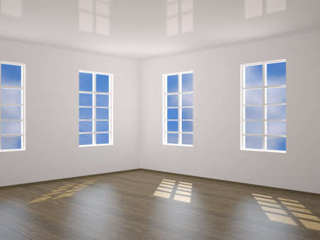 premise: A room with four windows