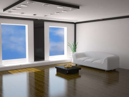fixture: The interior with white sofa Stock Photo