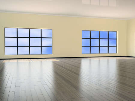 clr: Interior of a hall with big window