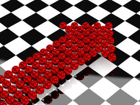 Red arrows consisting of small metal balls Stock Photo - 12579995