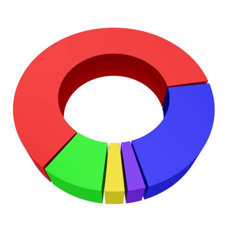Round colored diagram on a white background photo
