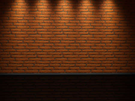 Interior of a room with a brick wall Stock Photo - 12910896