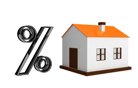 The small house and the big percent Stock Photo - 12910951