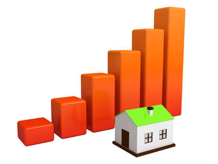 Shows a rise in prices for real estate Stock Photo - 12910905