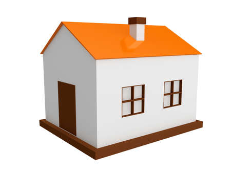 A small house on a white background photo