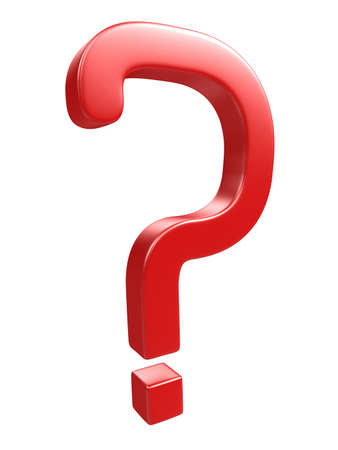 Red question mark on a white background Stock Photo - 13148573