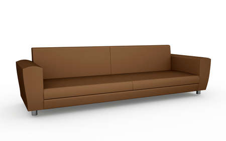 The brown sofa on a white background photo
