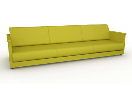 The green sofa on a white background photo