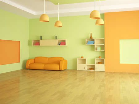 The interior of a large room with furniture Stock Photo - 13148608