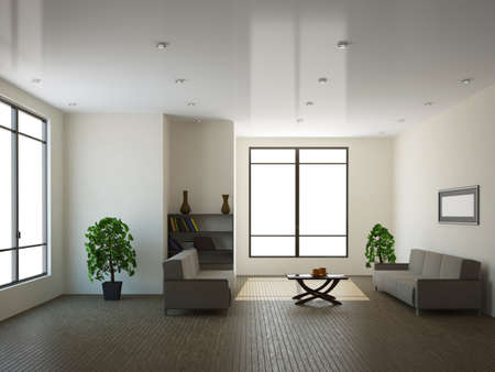 The interior of a large room with a window Stock Photo - 13729164