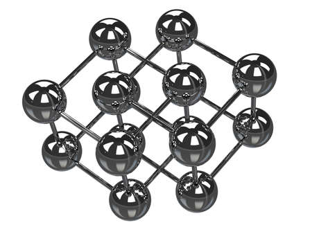 The metal balls on a white background Stock Photo - 14176611