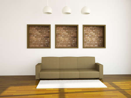 The room interior with sofa near a wall Stock Photo - 14319558