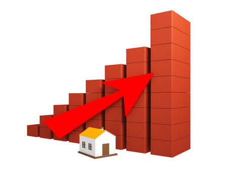 Shows a rise in prices for real estate Stock Photo - 14733835